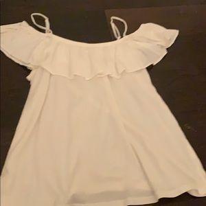 a white top